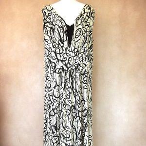 EUC Dress Barn Black and White Dress Size 22W